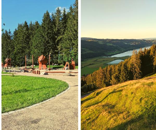 Alpsee Bergwelt הנוף מהרכבל לאגם וגינת השעשועים המעלה ההר