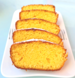 Corn flour orange cake