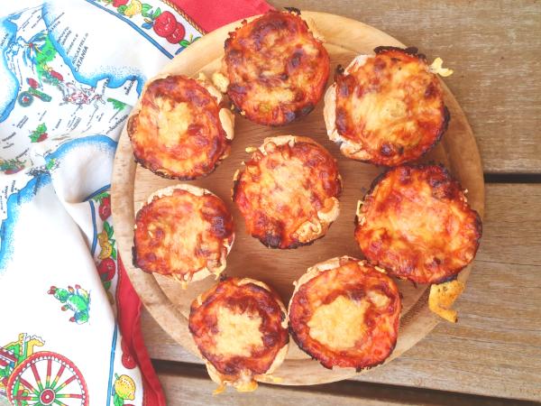 נגיסי פיצה ללא גלוטן עם תחתית בצק קריספי