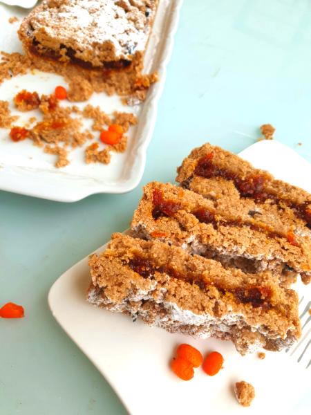 Vegan and Gluten-Free Sea Buckthorn Berries Tart