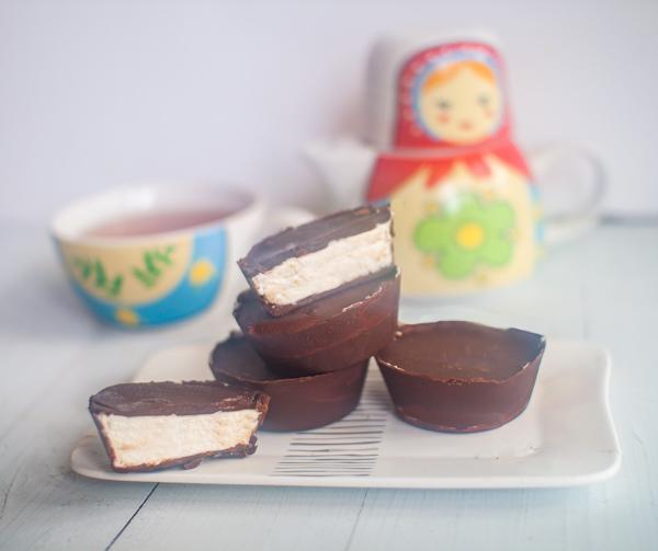 כוסות שוקולד במילוי גבינה