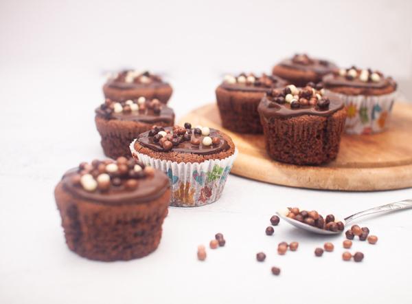 מאפינס שוקולד ללא גלוטן מקמח כוסמת