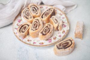 עוגיות מגולגלות נוטלה ללא גלוטן