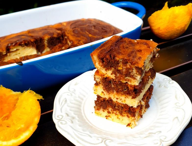 עוגת שיש שוקולד תפוז ללא גלוטן