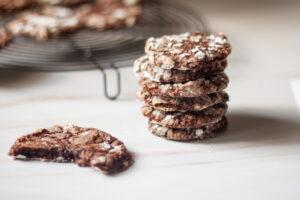 עוגיות שוקולד פאדג' שקדים ללא גלוטן