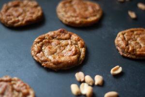 עוגיות בננה וחמאת בוטנים ללא קמח וטבעוניות